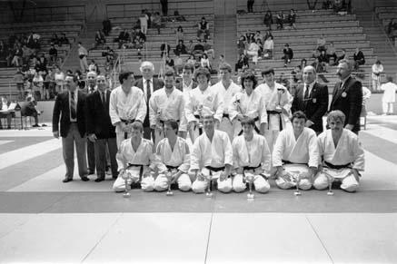 Coupe Technique inter-régionale de JUJITSU - 1990/91 à Marseille.  Ivan CHATVENOIR et Eric SCALAPIONE terminent 1er et sont sélectionnés pour la coupe de France.