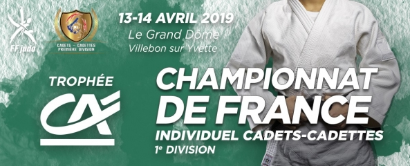 Championnat France Cadets – les 13 & 14 avril 2019